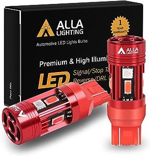 Alla Lighting T20 Base 7440 7443 CANBUS LED Bulbs Red Turn Signal Lights, Plug-n-Play 7441 7440LL 7443LL CAN Bus Error Fre...
