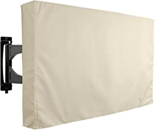 KHOMO GEAR Outdoor TV Cover - SAHARA Series - Universal Weatherproof Protector For 36 - 38 Inch TV - Fits Most Mounts & Brackets