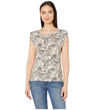 Royal Robbins Noe Twist Print Short Sleeve Top (Light Taupe Print) Women