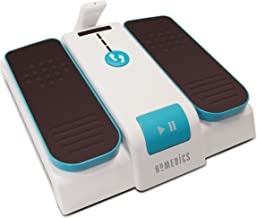 Homedics 5010777139471 Leg Exerciser - Improve Circulation, Reduce Joint Discomfort, Swelling, Aching, Tiredness in Legs - 3 Speeds, 3 Stride Lengths, Easy Remote Control, Carry Design, Simple Storage