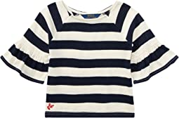 Polo Ralph Lauren Kids - Striped Ruffle Sleeve Top (Toddler)