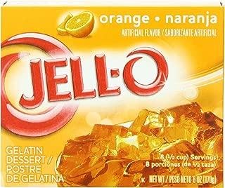 JELL-O Orange Gelatin Dessert Mix (6 oz Boxes, Pack of 24)