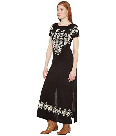 with Emboidery Caprice Maxi Scully Dress XqUHUt