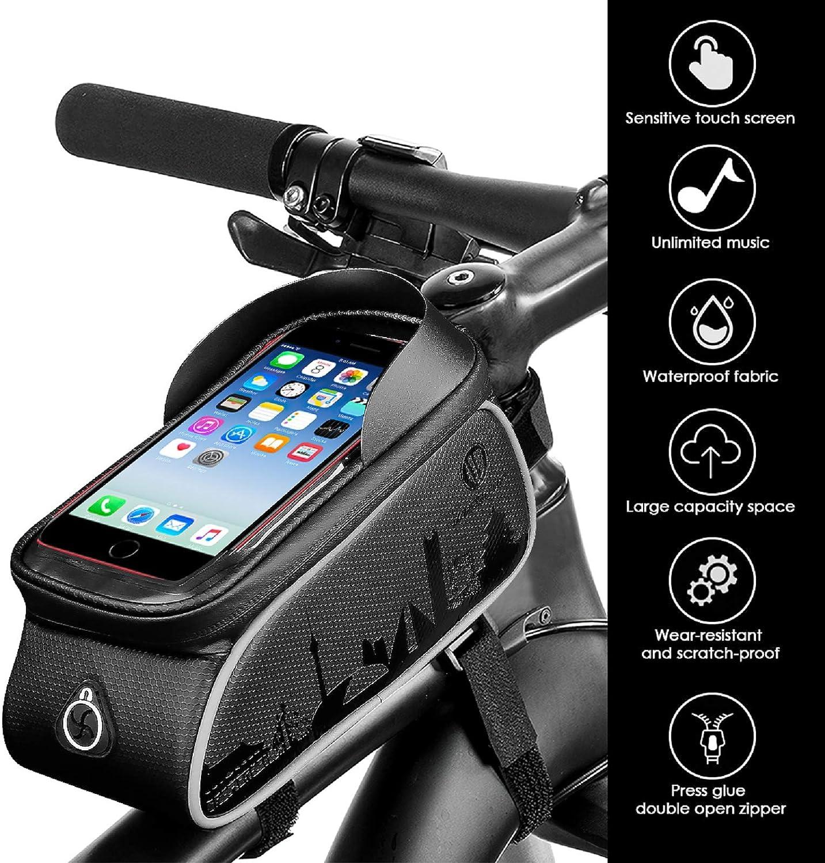 OhhGo telaio anteriore per manubrio e manubrio Borsa anteriore per bicicletta
