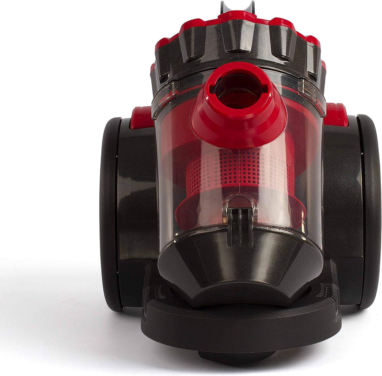 Domoclip Aspirador con Bolsa Multi-Cyclonique Rojo/Negro: Amazon.es: Hogar