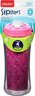 Playtex Sipsters Stage 4 Spill-Proof, Leak-Proof, Break-Proof Insulated Sport Spout Sippy Cup - 12 Ounce - 1 Count (Color May Vary)