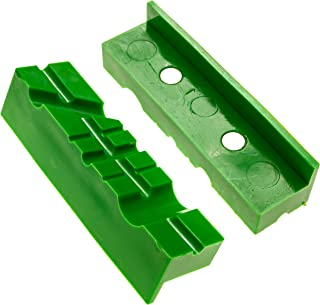 Vise Soft Jaws/Vice Jaw Pads - Magnetic - 4.5 Inch Length, Multi-Groove Design, Durable TPU Rubber Covers - Fit Wide Array of Vises/Vices and Blocks (4 5 6 In) - By Mission Automotive