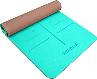 arteesol Yoga Mat, Fitness Mat Non-Slip Exercise Mat Pollutant-Free TPE Material Workout Mat with Carrying Strap for Yoga/...