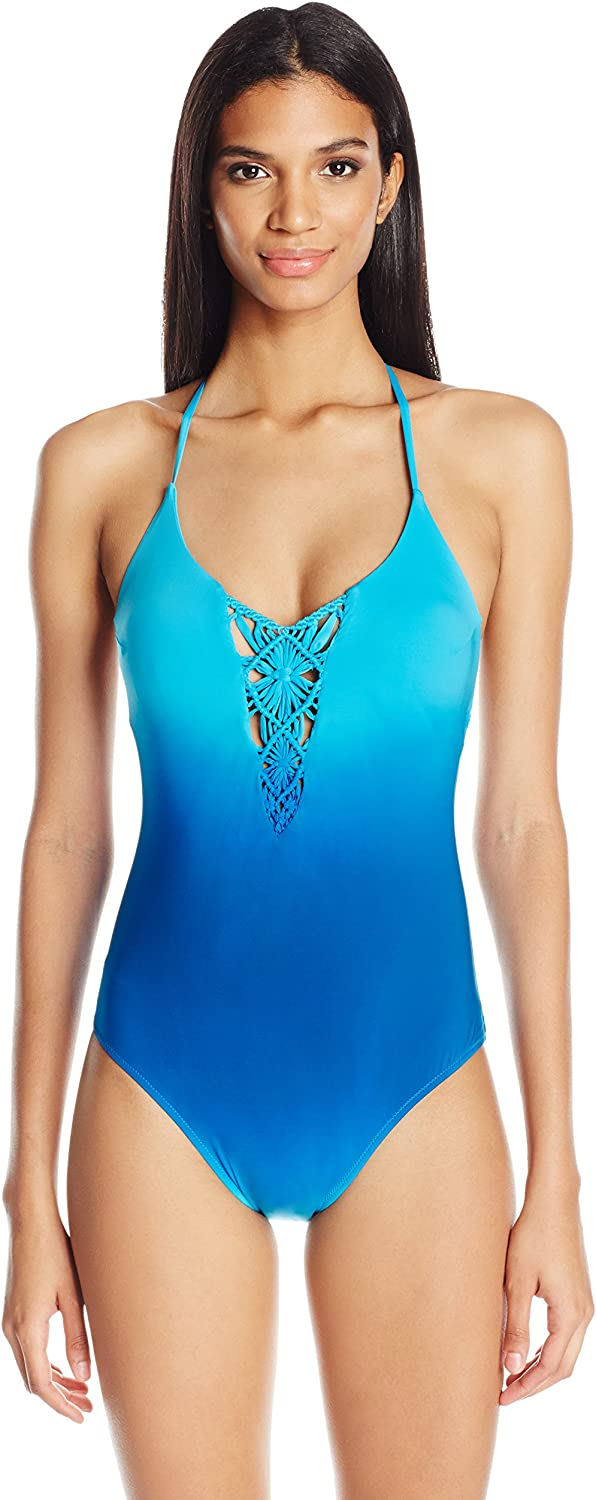 Nanette Lepore Womens Solola Goddess Macrame One Piece Swimsuit OnePiece Swimsuit