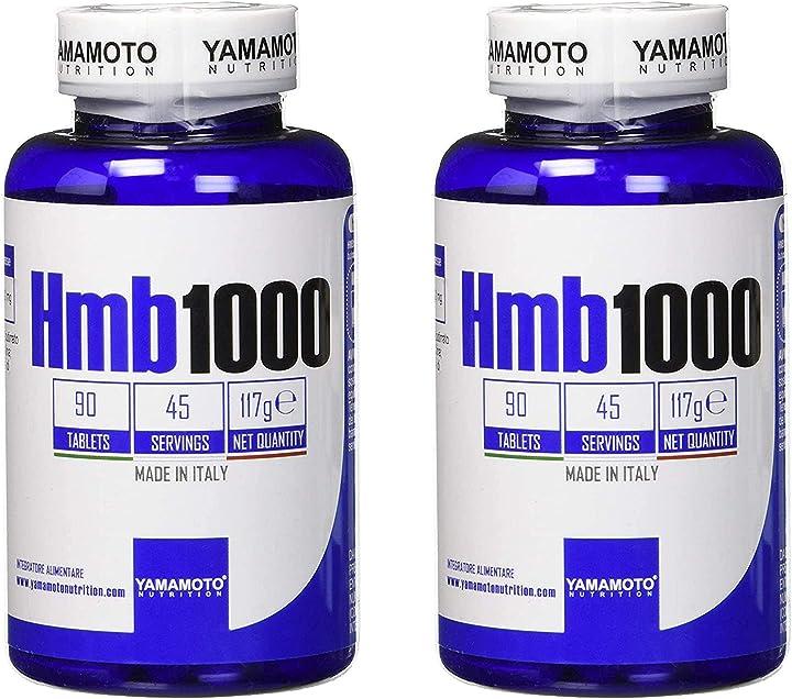Integratore alimentare di beta idrossi beta metil butirato yamamoto nutrition hmb1 2 confezioni 180 compresse B08MT8Z51G