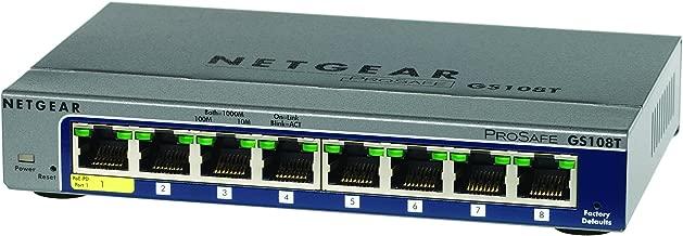Netgear ProSafe 8-Port Gigabit Smart Switch (GS108T-200NAS)