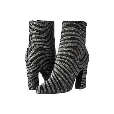 Just Cavalli Zebra Ankle Boot (Gargoyle) Women