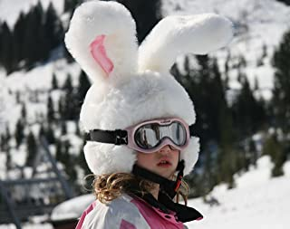 Rabbit Ski Helmet Cover for Kids & Adults. Crazy Large Flexible Ears