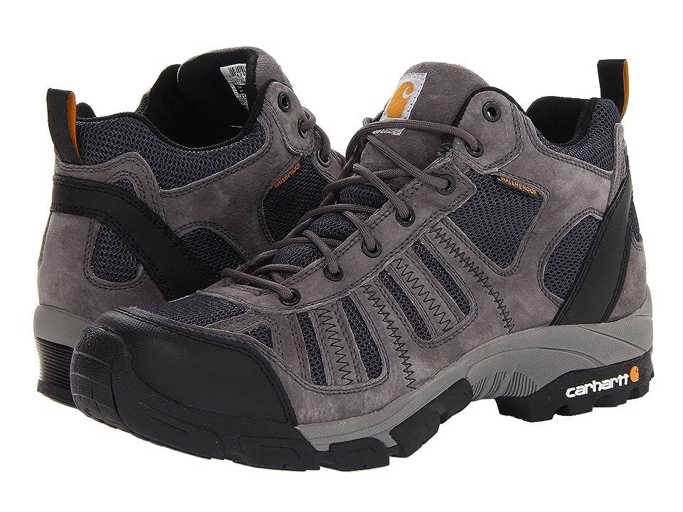 Carhartt Lightweight Waterproof Work Hiker Soft Toe (Grey/Blue) Men's Work Boots
