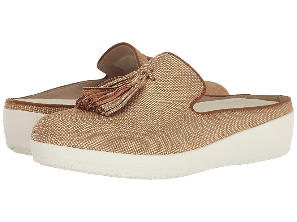 FitFlop Houndstooth Print Superskate Slip-On (Pale Gold) Women