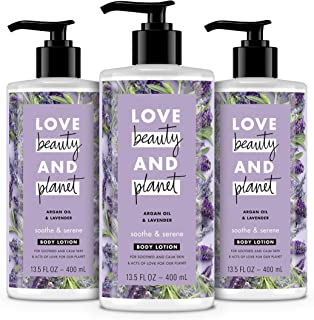 Sponsored Ad - LBP Love Beauty And Planet Body Lotion Argan Oil and Lavender 13.5 oz, 3 Count