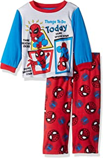 Marvel Boys' Spiderman 2-piece Fleece Pajama Set