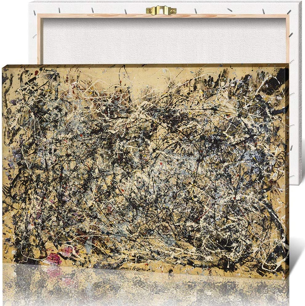 Canvas 40% OFF Long-awaited Cheap Sale Wall Art Poster Jackson Number Painting 1A Pollock