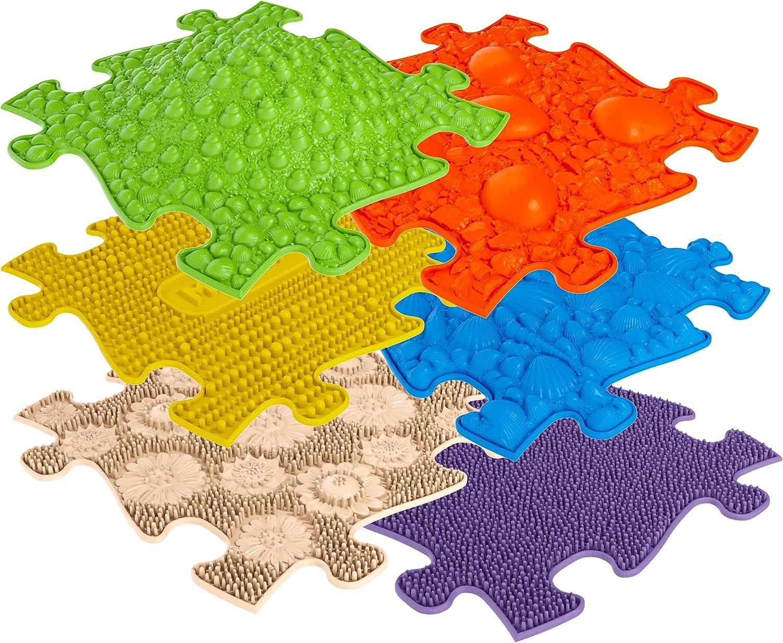 muffik - Alfombras ortopédicas para desarrollo sensomotor muffik, conjunto Small compuesto por 6 elementos para percepción táctil