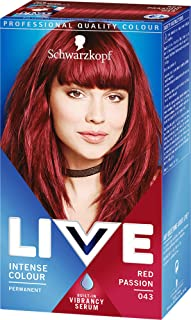 Schwarzkopf Live Intense Permanent Hair Colour Kit, Red Passion (number 43)