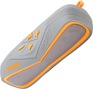 Port Waterproof Wireless Bluetooth Stereo Speaker,Portable Marine Speaker System for iPhone, Android Phone, iPod, iPad,Super Stylish Sand- and Shockproof Design with TF Card Reader and AUX (Orange)
