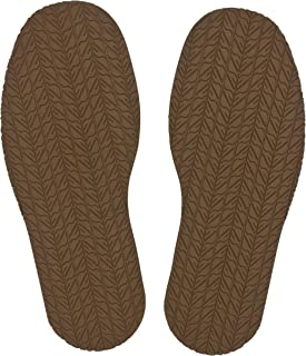 KANEIJI Shoe Replacement Rubber tire Grain Full Sole, chooes Different Colors,4mm Thickness, one Pair (Khaki)