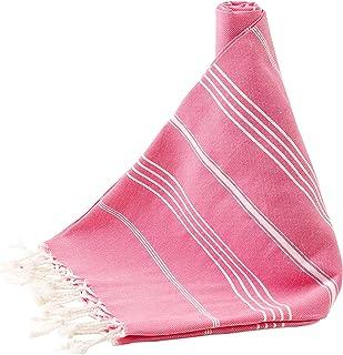 FINDSPOT Turkish Towel Cotton Pestemal - Prewashed Towel for Beach Pool Bath Gym Yoga Spa Functional Hand Woven%100 Cotton...