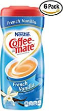 Nestle Coffee-mate Coffee Creamer, French Vanilla, 15oz powder creamer - Pack of 6