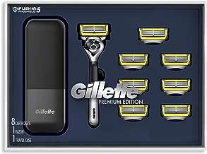 Gillette Fusion Proshield Shave Gift Set for Men, 8 Fusion Proshield Blade Refills,1 Razor Handle, 1 Razor Case