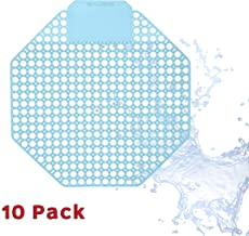 Urinal Screen Deodorizer (10 Pack) - Scent Lasts for Up to 5000 Flushes – Anti-Splash & Odor Neutralizer – Ideal for Bathrooms, Restrooms, Office, Restaurants, Schools (Blue - Ocean)