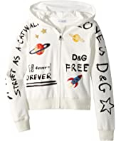 Dolce & Gabbana Kids - Hooded Cardigan (Big Kids)