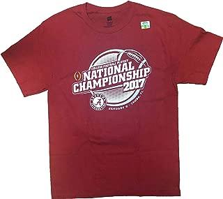 Rivalry Threads Alabama Crimson Tider 2017 National Championship Crew Neck Adult T-Shirt