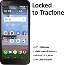 TracFone Carrier-Locked TCL LX 4G LTE Prepaid Smartphone - Black - 16GB - Sim Card Included - CDMA