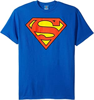 DC Comics Superman Classic Logo Men's T-shirt, XX-Large, Blue