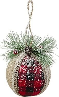 """4ct Black and Red Shatterproof 4-Finish Christmas Ball Ornaments 4"""" (100mm)"""