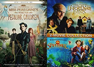 Odd & Peculiar Kids Movie Night Pack: Miss Peregrine's Home For Peculiar Children & Lemony Snicket's A Series Of Unfortunate Events/ The Spiderwick Chronicles (3 Feature Film DVD Bundle)