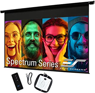 """Elite Screens Spectrum 110"""" Electric Motorized Projector Screen with Multi Aspect Ratio Function Diag 16:9 to 104-inch Dia..."""