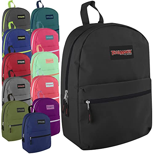 Classic 17 Inch Backpack Case Pack 24 (Assorted 12 Color Pack)
