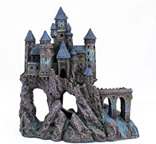 Penn Plax Castle Aquarium Decoration Hand Painted with Realistic Details Over 14.5 Inches High Part A