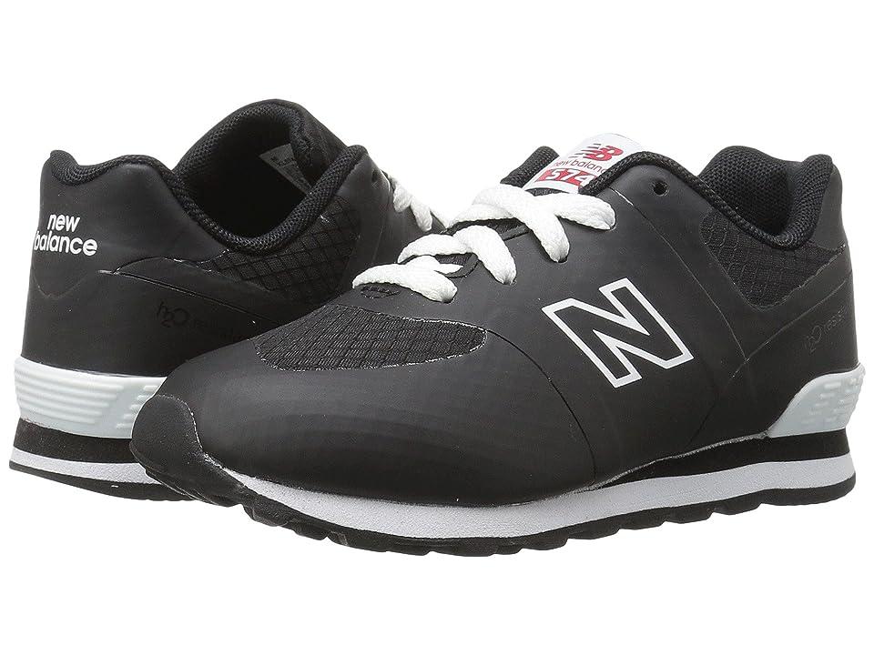 New Balance Kids KL574v1I (Infant/Toddler) (Black/White) Kids Shoes