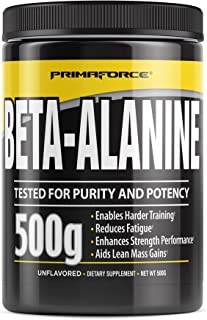 Sponsored Ad - PrimaForce Beta Alanine Powder Supplement - Enhances Strength Performance / Reduces Fatigue, 500 Grams