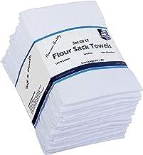 Flour Sack Kitchen Towels (White,12 Pack) 100% Cotton,28x28 Inch Cloth Napkin, Bread wrapper, Cheesecloth, Multi Purpose K...