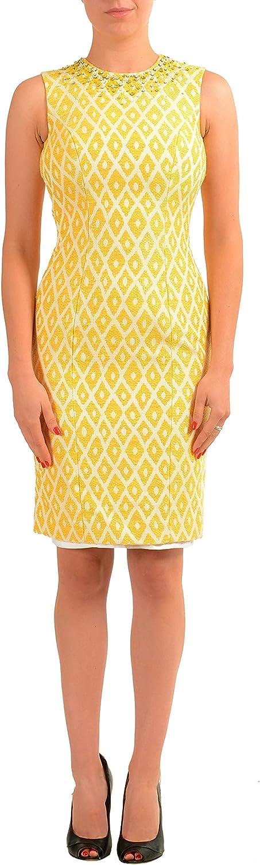 DSQUARED2 Multi-Color Embellished Sleeveless Women's Sheath Dress US S IT 40
