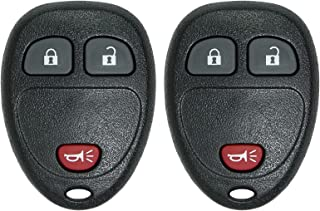 Keyless2Go Keyless Entry Car Key Replacement for Vehicles That Use 3 Button OUC60270 OUC60221, Self-programming - 2 Pack