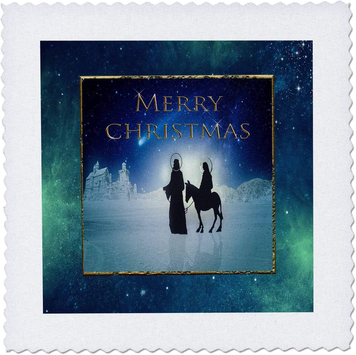 3dRose Image of Merry Christmas Mary Cheap bargain Joseph Way SALENEW very popular Their to and on