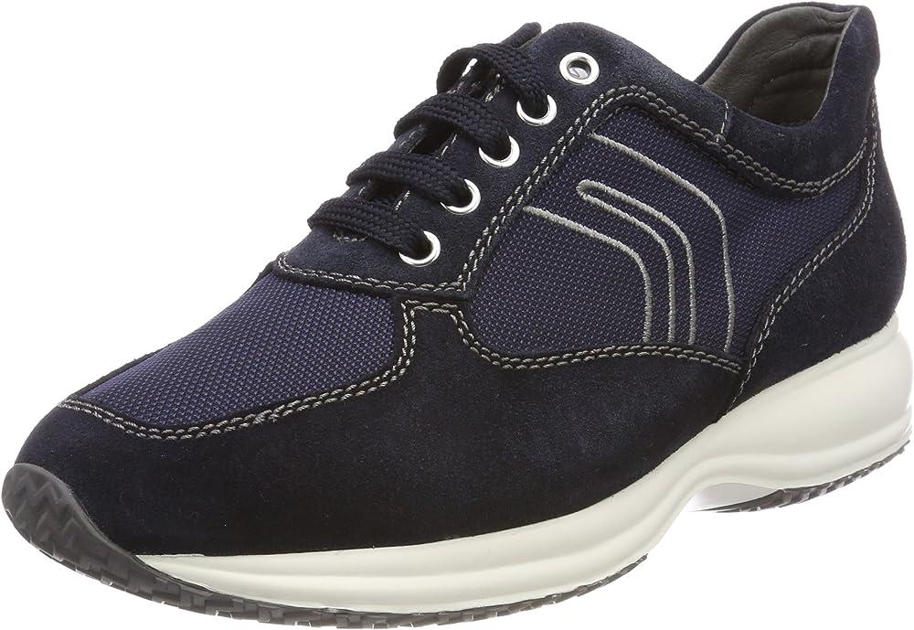 Geox u happy art. g, scarpe stringate uomo sneaker U4162G02211