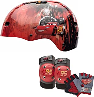 Disney Pixar Cars Kids Skate/Bike Helmet Pads & Gloves - 7 Piece Set