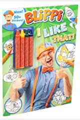 Blippi: I Like That! Coloring Book with Crayons: Blippi Coloring Book with Crayons Paperback