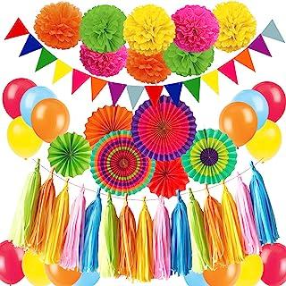 Zerodeco Decoración de la Fiesta, Abanicos de Papel Bola de Nido Pom Poms Ventilador Cumpleaños Boda Carnaval Bebé Ducha Home Party Supplies Decoración