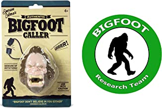 Bigfoot Call Toy GRRRR and Bigfoot Research Team Decal